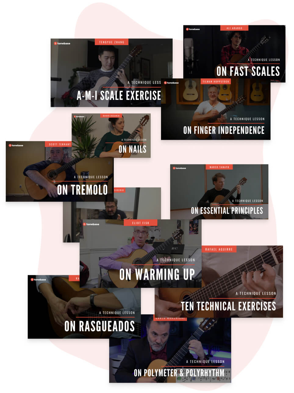 Technique lessons on tonebase | Learn from the world's best guitarists