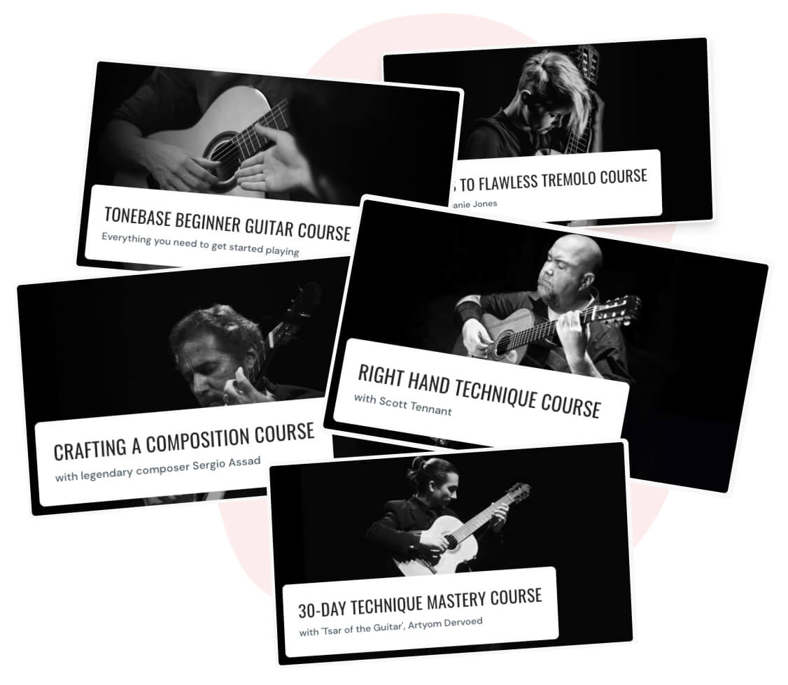 tonebase   200+ lessons on all things classical guitar
