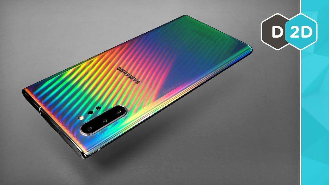 Galaxy Note 10 - 💙💜��💛💚
