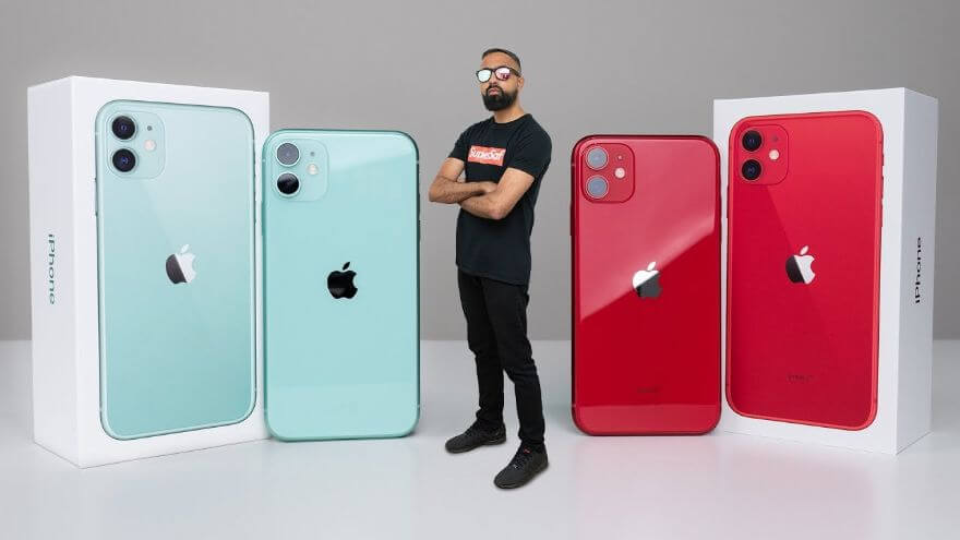 iPhone 11 UNBOXING Green vs Red