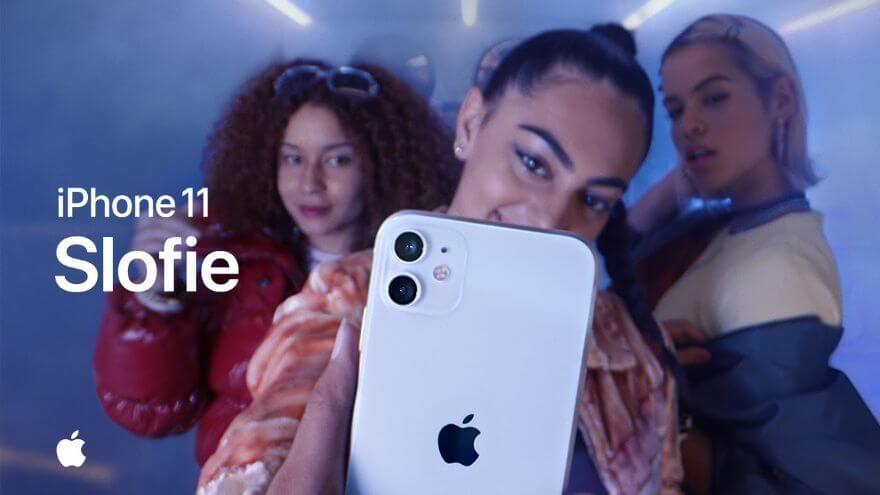Group slofie on iPhone 11 — Apple