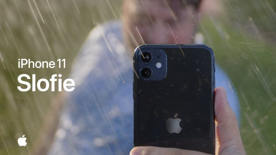 Slofie in the rain with iPhone 11 — Apple