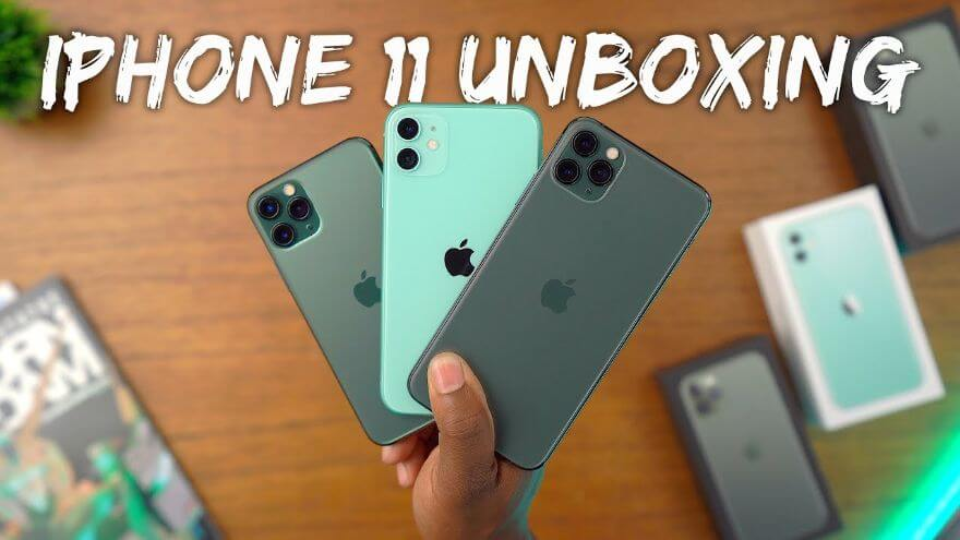 iPhone 11 vs 11 Pro Unboxing - All The Green Models!
