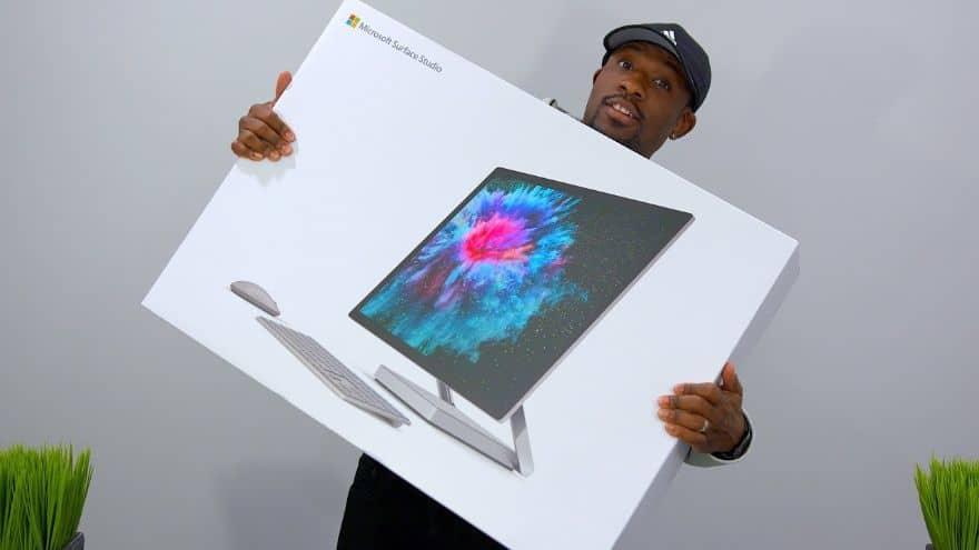 Giant Surface Studio 2 Unboxing + Desk Setup!