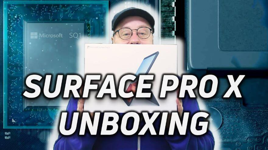 Surface Pro X Unboxing