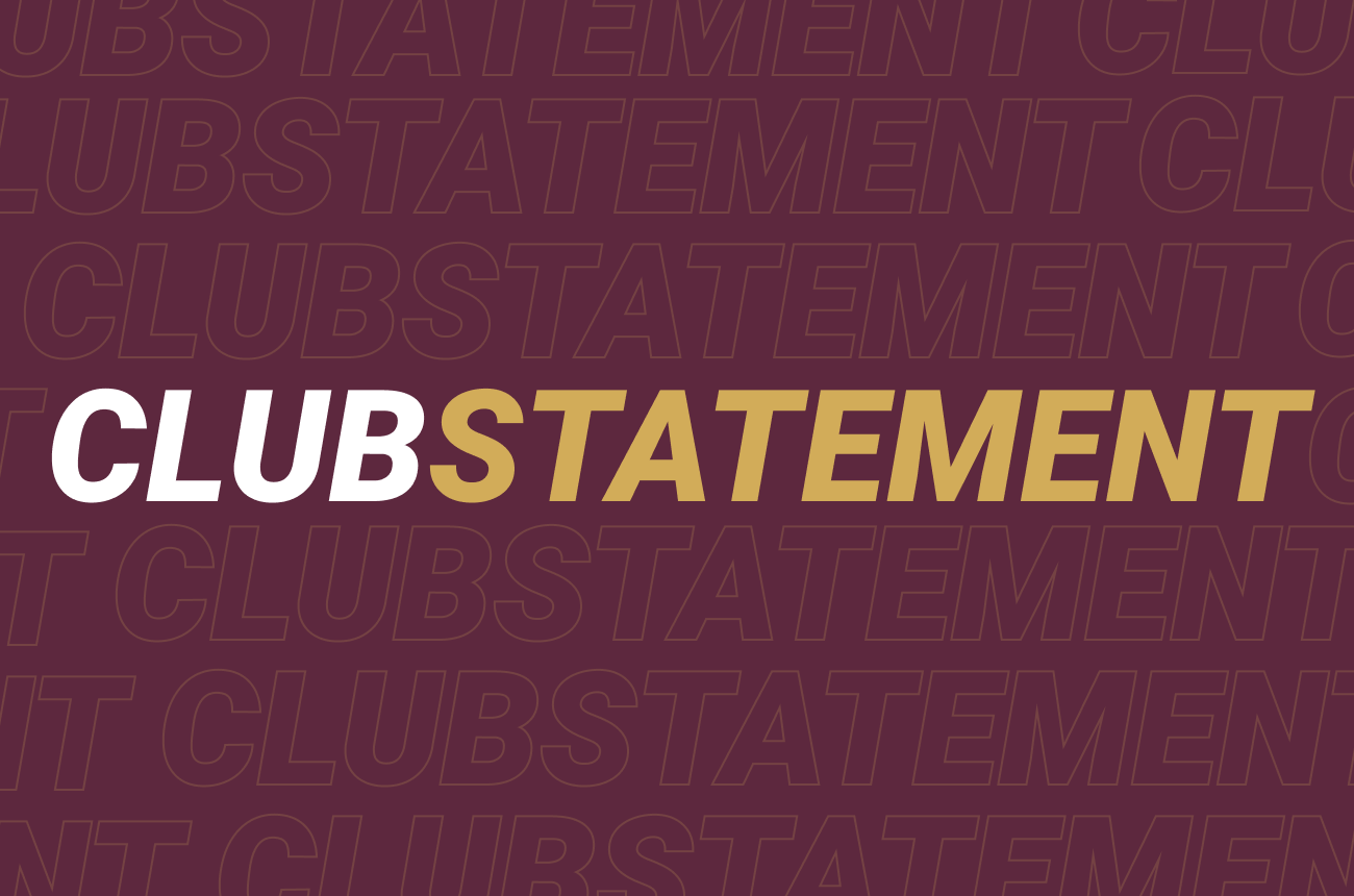 Club Statement: Return to training