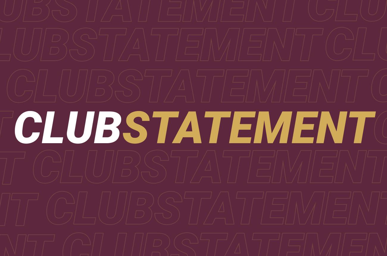 Club Statement: Return to training