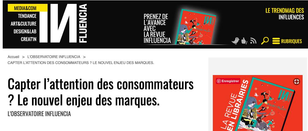 Tribune sur Influencia de Rémy de l'Agence Gorille