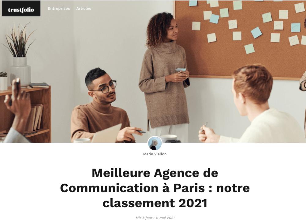 L'Agence Gorille dans le classement des meilleures Agences de Communication à Paris, dans la catégorie : Les Agences de Production Vidéo !