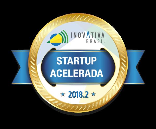 Selo de startup acelerada Inovativa Brasil 2018