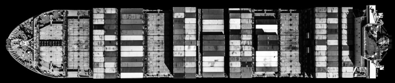 Imagem decorativa de um navio cargueiro