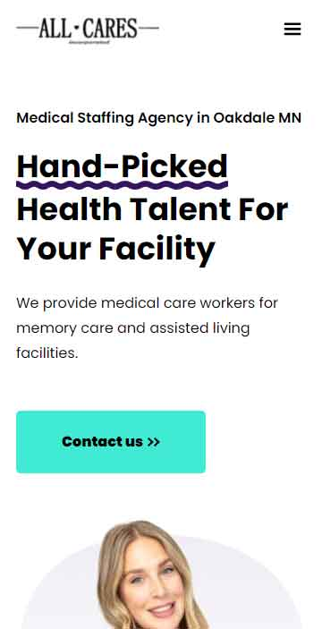 Client website project 4 - Mobile