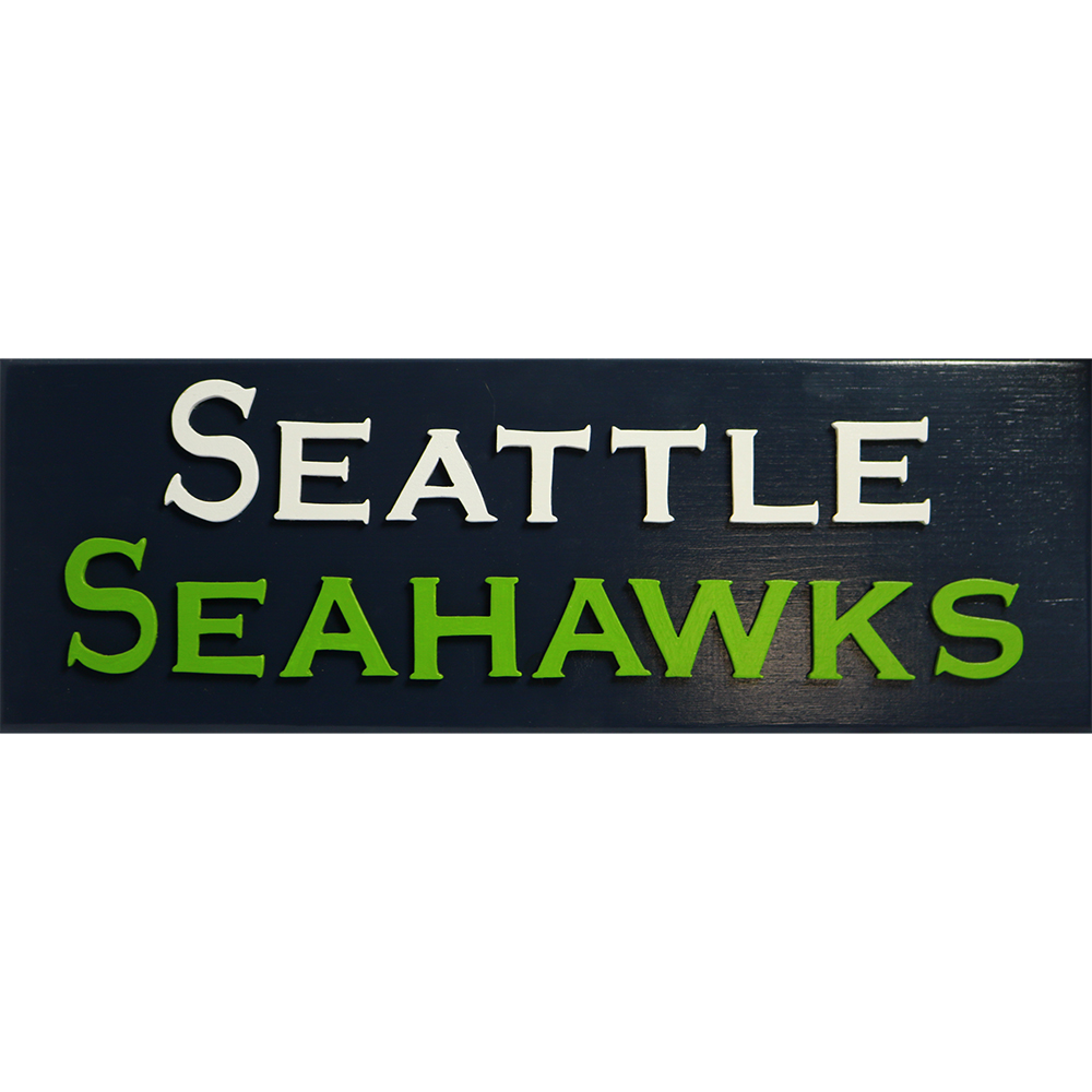 """Seattle Seahawks"" Handcrafted Art"