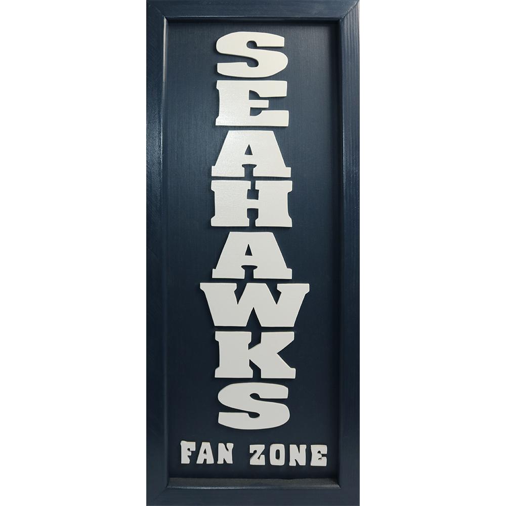 """""""Seahawks Fan Zone"""" Handcrafted Art"""