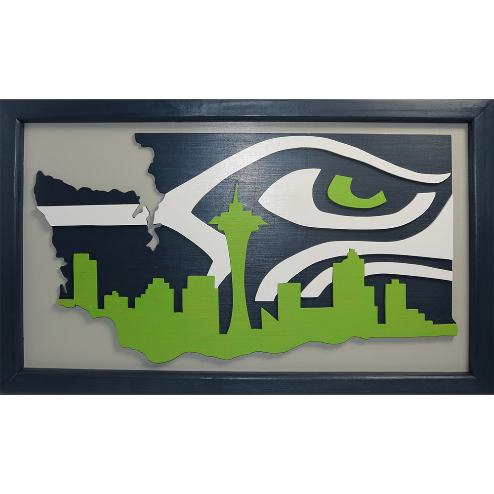 Seattle Skyline Handcrafted Art