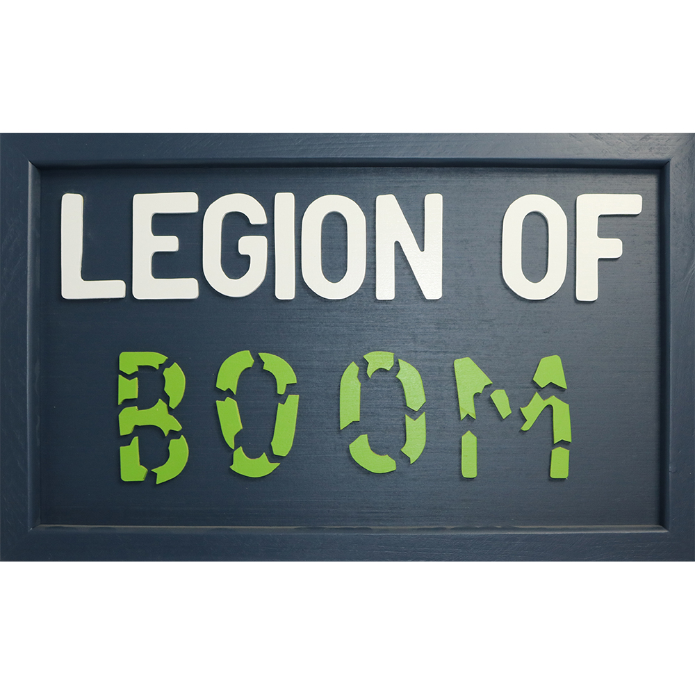 """Legion of Boom"" Handcrafted Art"