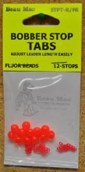 BEAU BOBBER STOP TAB W/BEADS(12)