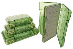 COLO/ANGLER CLEAR GREEN FLY BOX