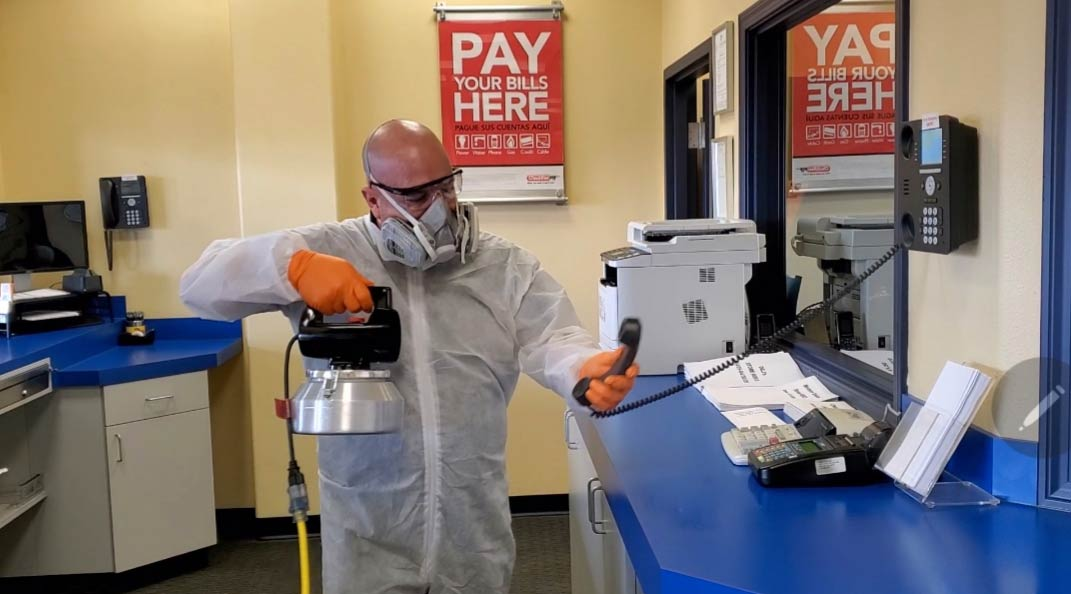 Disinfecting and sanitizing by Robinson Custom Cleaning