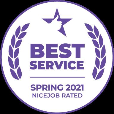 Winner of the Spring 2021 NiceJob Best Service Award