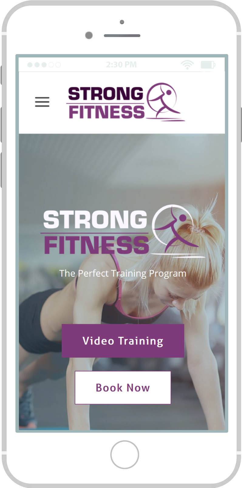 All-In-One Online Fitness Studio Website - Strong Fitness Mobile view 1 Example