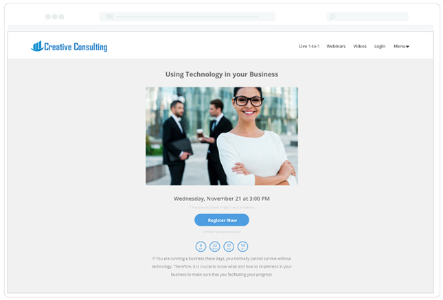 Consulting Template Live 1-to-1