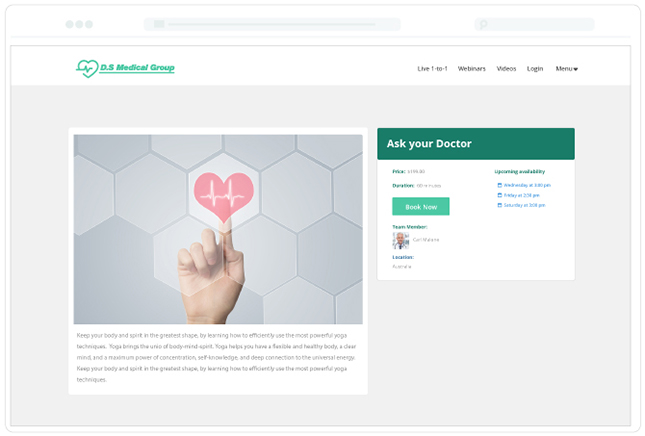 Yondo Medical Video Page