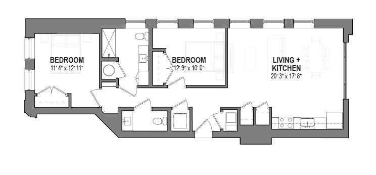 Two Bedroom Floor Plans