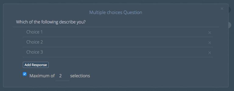 Multi-choice config