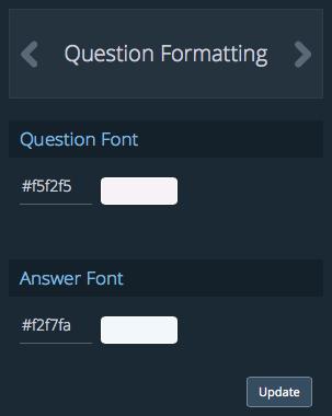 question formatting