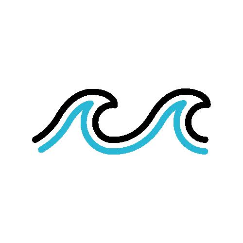 Ocean wave icon.