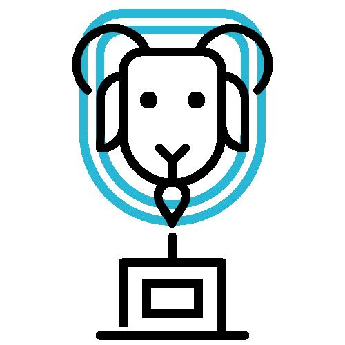 Goat trophy icon.