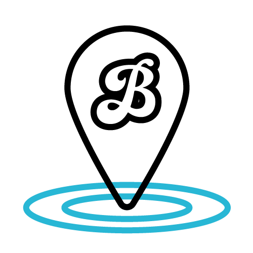 Blueboard destination pin icon.