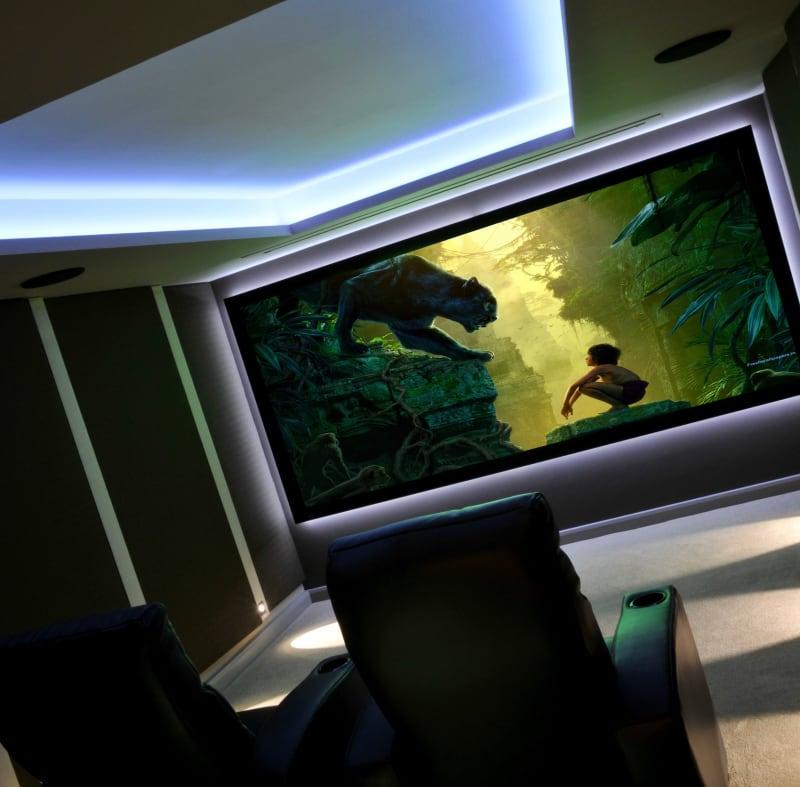 A home cinema room