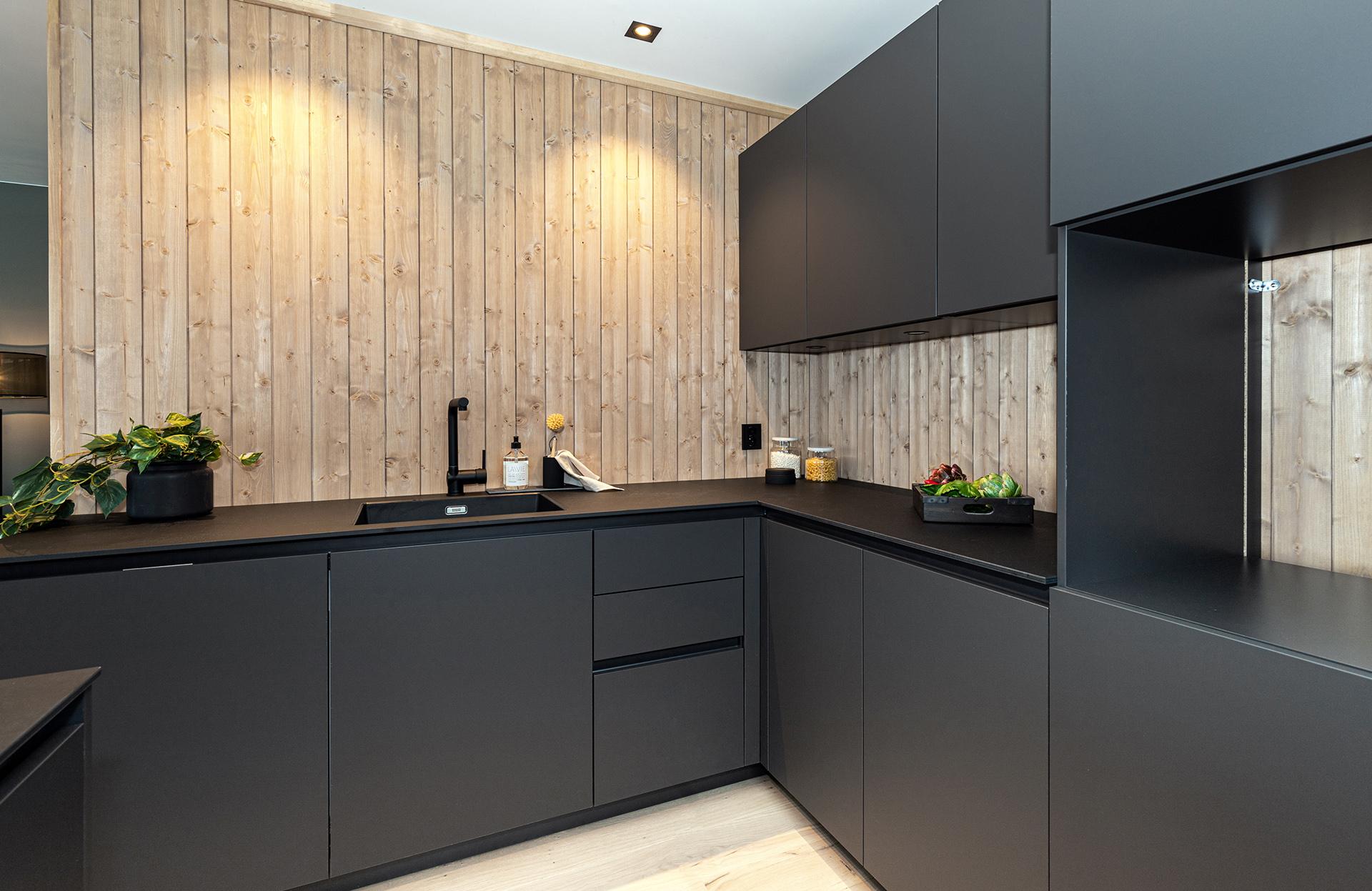 Kjøkkenet i leilighet B302 på Vaastølen.