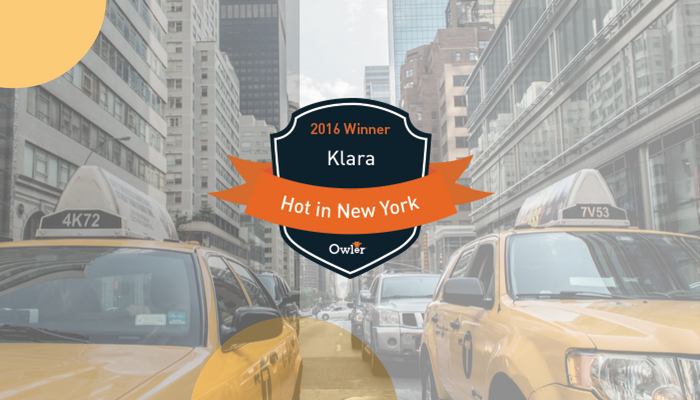 Klara Wins Owler HOT In New York Award 2016