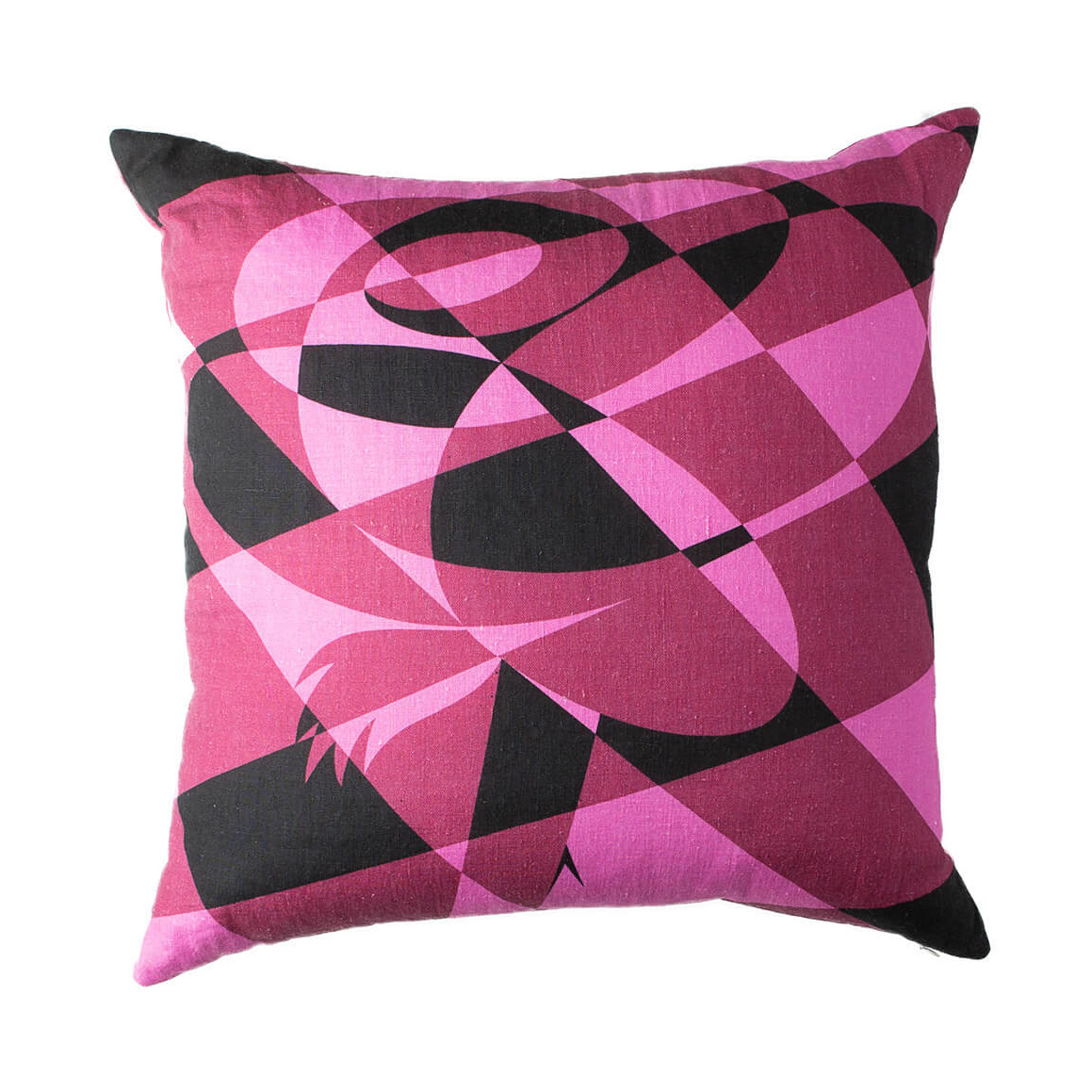 Fierce Magenta Lumberjack Rose Throw Pillow