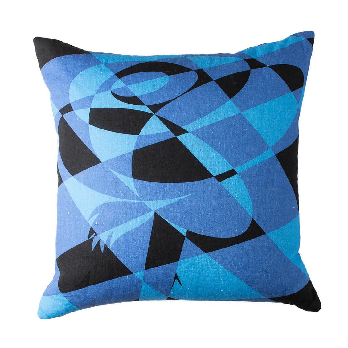 Clear Skies Blue Lumberjack Rose Throw Pillow