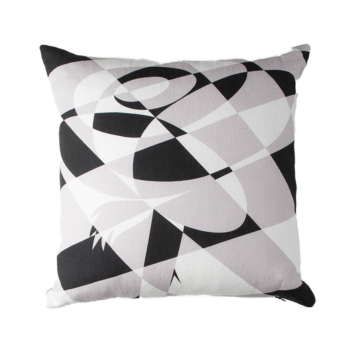 North Star White Lumberjack Rose Throw Pillow