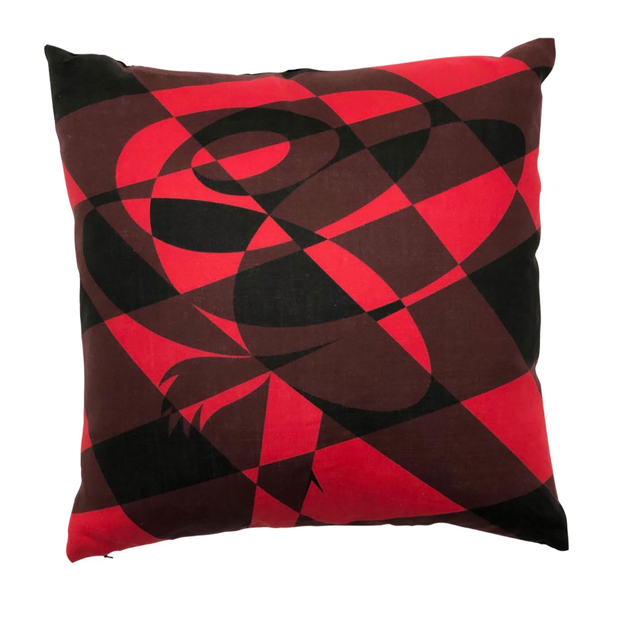 Flame Red Lumberjack Rose Throw Pillow