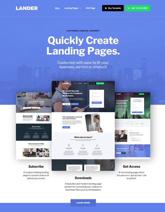 Lander - Landing page Website Template