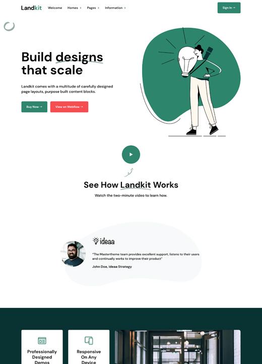 Landkit - Startup Website Template