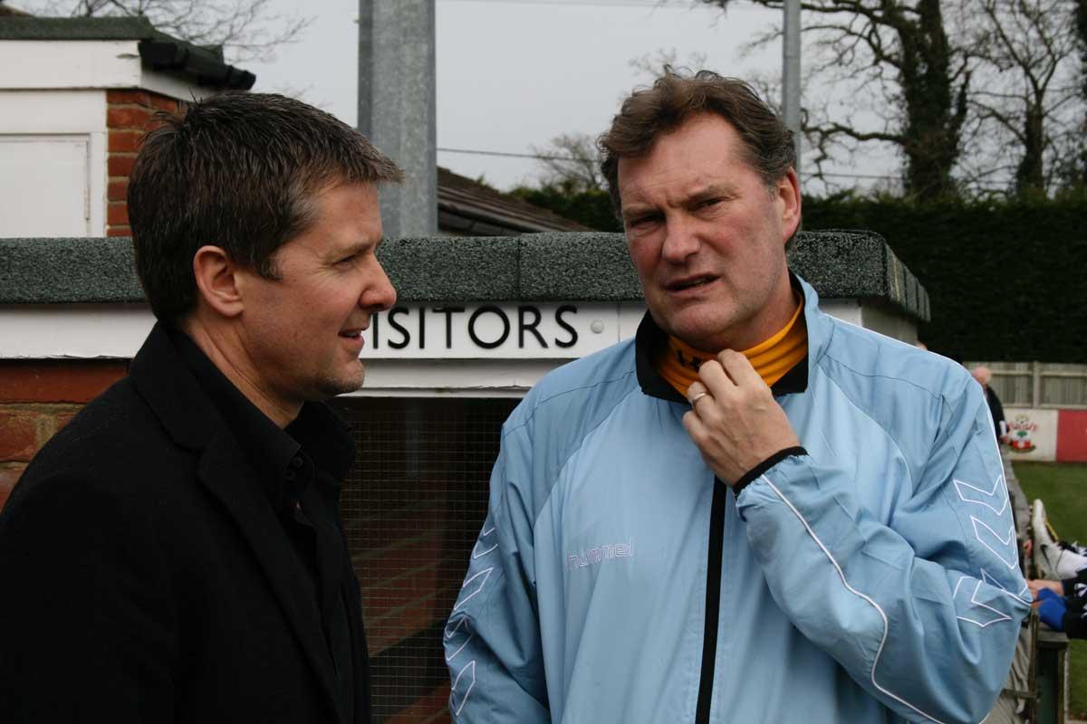 Photo of Mark with Glenn Hoddle