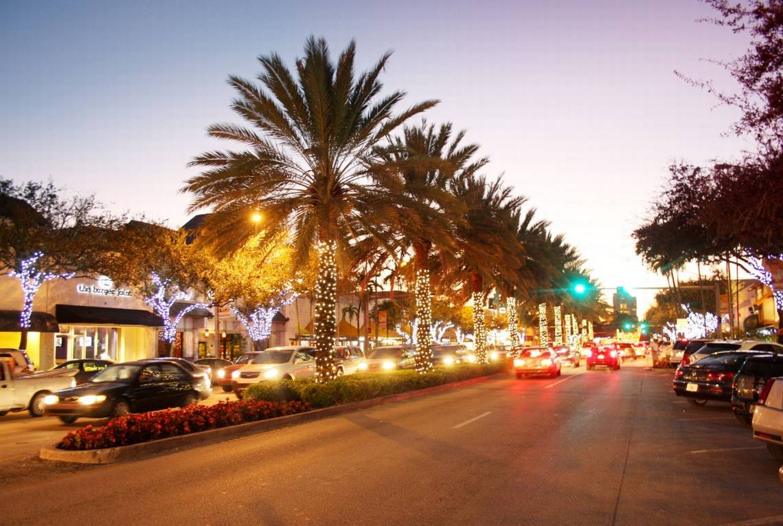 Miracle Mile Boulevard at Coral Gables city