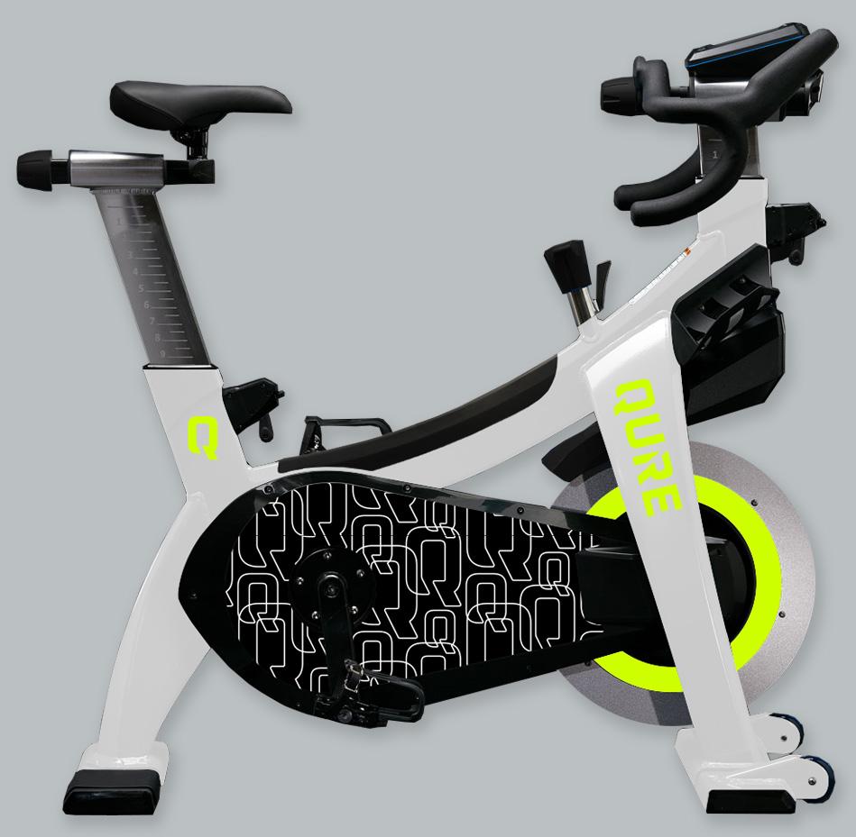 Qure branded indoor bike