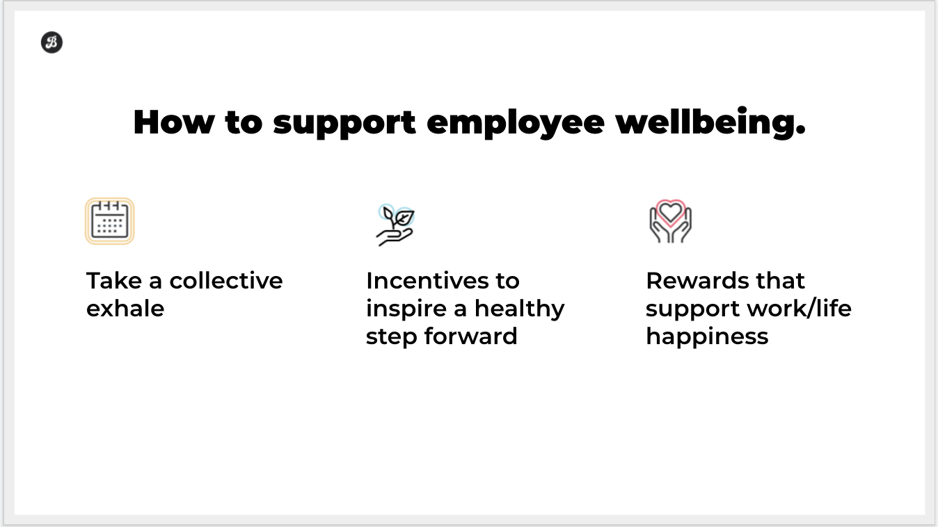employee wellbeing and recognition