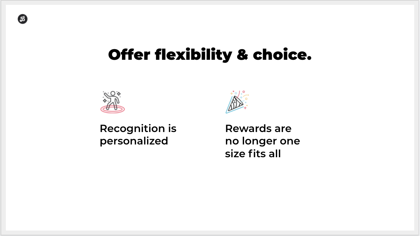 flexible rewards and recognition programs