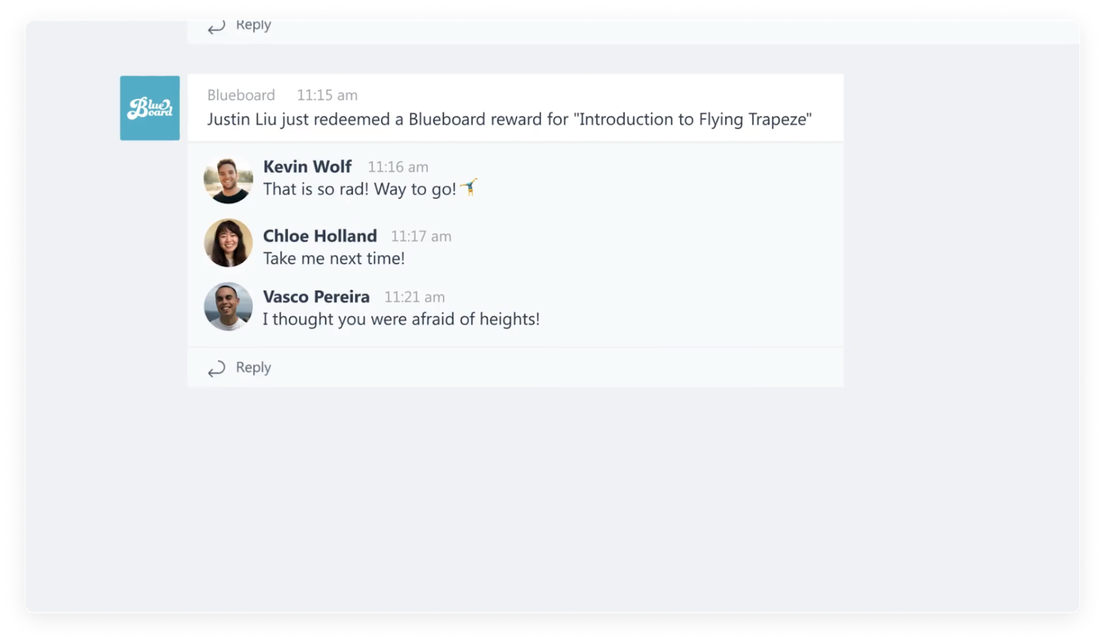 employee recognition channel in Microsoft teams