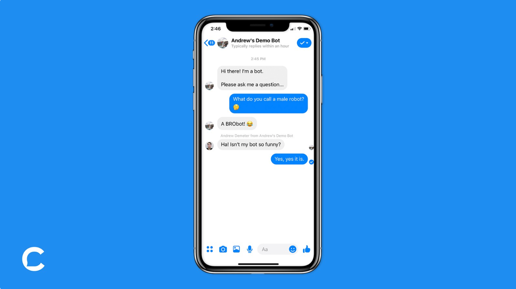 Human agent in a chatbot