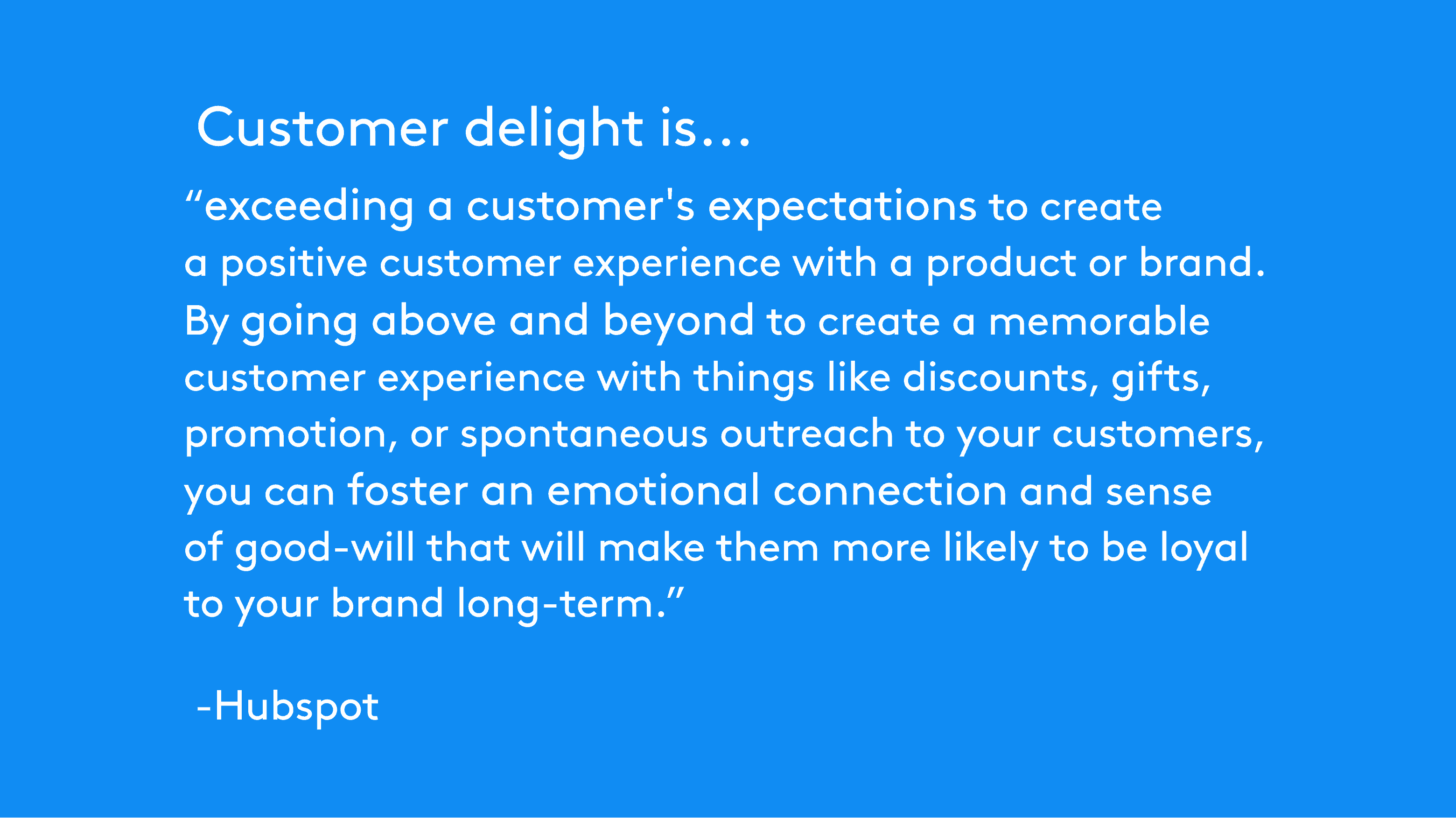 Hubspot about Customer delight